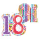 Folijski balon za 18.rođendan Radiant Birthday XL