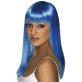 Dugačka neon plava perika