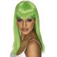 Dugačka neon zelena perika