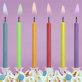 Rođendanske svjećice sa plamenom u boji 6/1