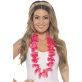 Havajska cvjetna ogrlica roza