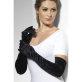 Duge crne baršunaste rukavice