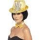 Zlatni šeširić sa šljokicama