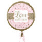 Folijski balon Love Always and Forever 43 cm