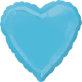 Folijski balon srce tirkizno