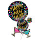 Folijski balon Happy New Year XL