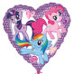 Folijski balon My Little Pony Heart 43 cm