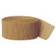 Ukrasna traka od krep papira zlatna 24,6m