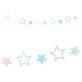 Papirnata girlanda Jednorog-zvjezdice 1,4m x 12,5 cm