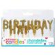 Rođendanske svjećice Happy Birthday zlatne