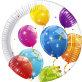 Papirnati tanjuri Sparkling Balloons 23 cm 8/1
