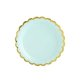 Papirnati tanjuri mint sa zlatnim rubom 6/1 18 cm