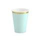 Papirnate čaše mint sa zlatnim rubom 6/1 220 ml