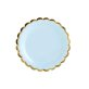 Papirnati tanjuri plavi sa zlatnim rubom 6/1 18 cm