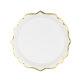 Papirnati tanjuri bijeli sa zlatnim rubom 6/1 18,5 cm