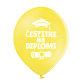 Lateks balon Čestitke na diplomi žuti
