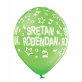 Lateks balon Sretan rođendan svijetlozeleni