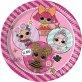 Papirnati tanjuri LOL Glitterati 23 cm 8/1 mix