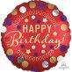 Folijski balon Happy birthday crveni satenski