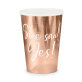 Papirnate čaše She said yes! rose gold 220 ml 6/1