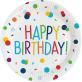 Papirnati tanjuri Happy Confetti Birthday 22.8 cm 8/1