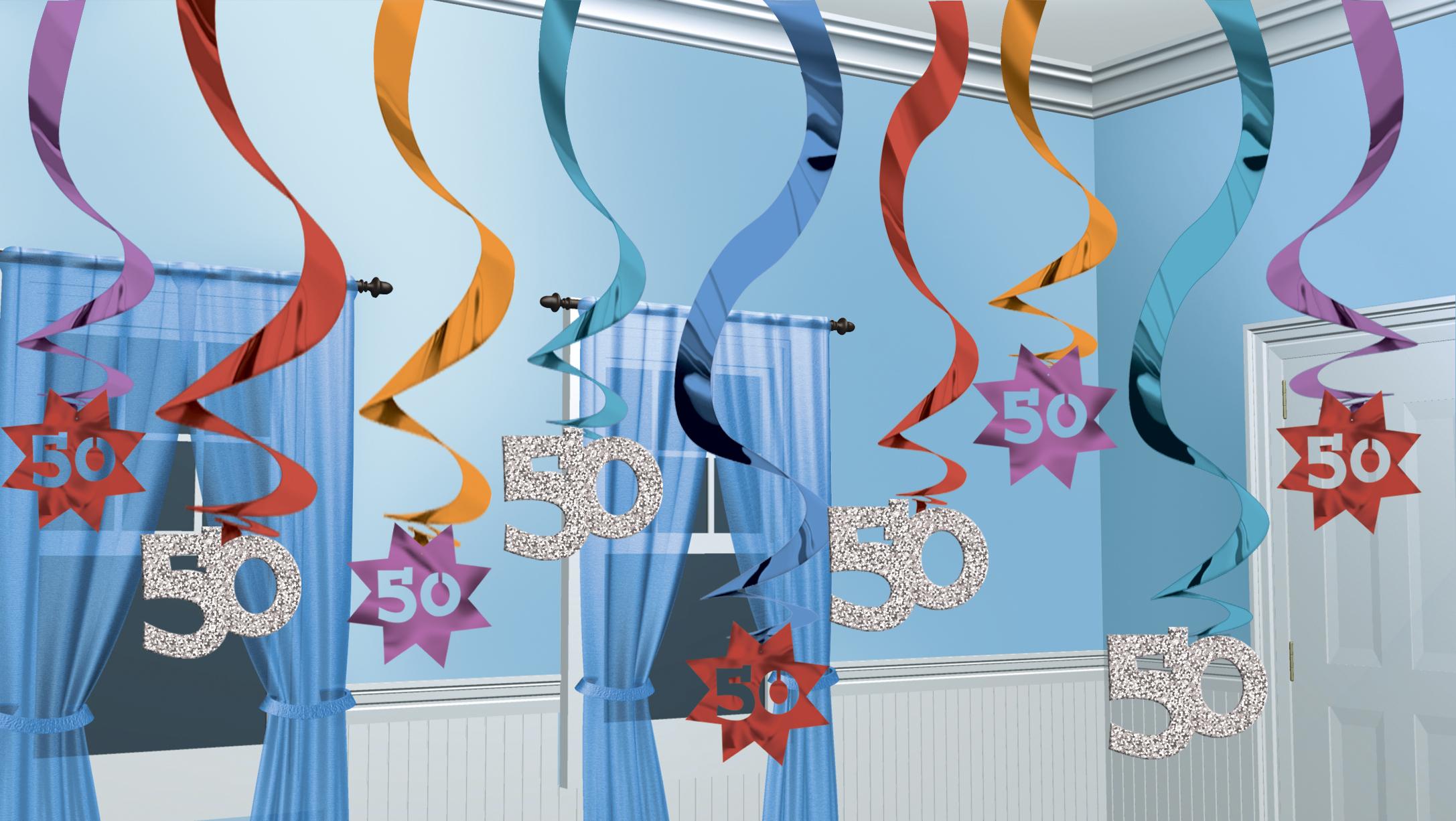 ideje za 50 rođendan Viseće dekoracije broj 50 ideje za 50 rođendan