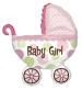 Folijski balon Baby Buggy Girl XL