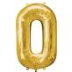 Folijski balon broj 0 zlatni