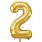 Folijski balon broj 2 zlatni