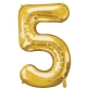 Folijski balon broj 5 zlatni
