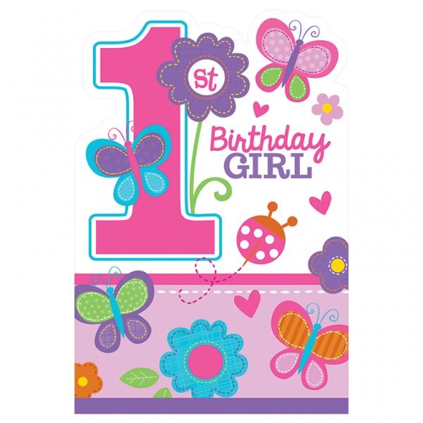 Pozivnice za 1. rođendan Birthday Girl