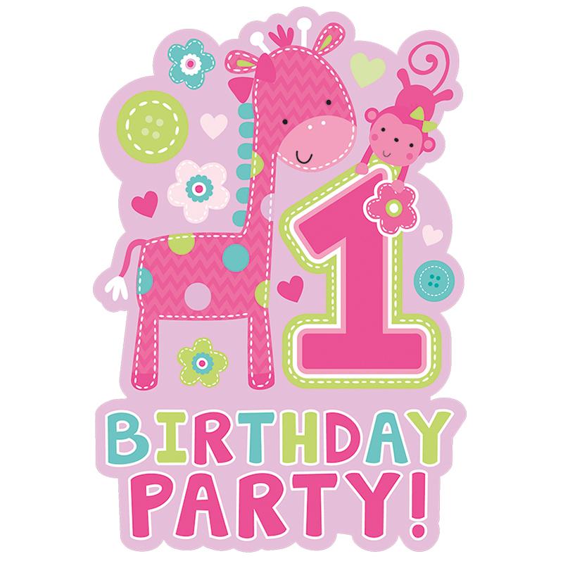 Pozivnice za 1. rođendan Girl
