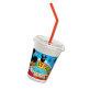 Milkshake čaše Mickey Mouse sa slamkama 12/1 300 ml