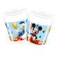 Plastične čaše Mickey Mouse 200 ml 8/1