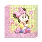 Salvete Minnie Baby dvoslojne 33x33 cm 20/1