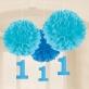Papirnati pomponi plavi za 1.rođendan