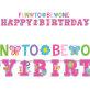 Rođendanski natpisi Birthday Girl 2/1 3,13m i 1,82m