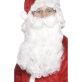 Brada Djeda Mraza deluxe bijela 38 cm